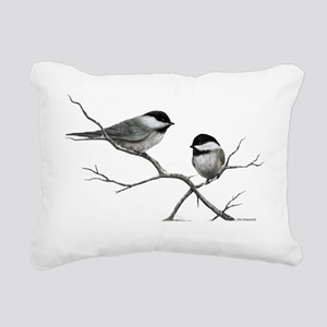 chickadee song bird Rectangular Canvas Pillow